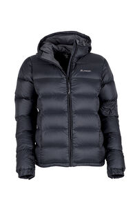 Macpac Halo Hooded Down Jacket - Women's, Black, hi-res