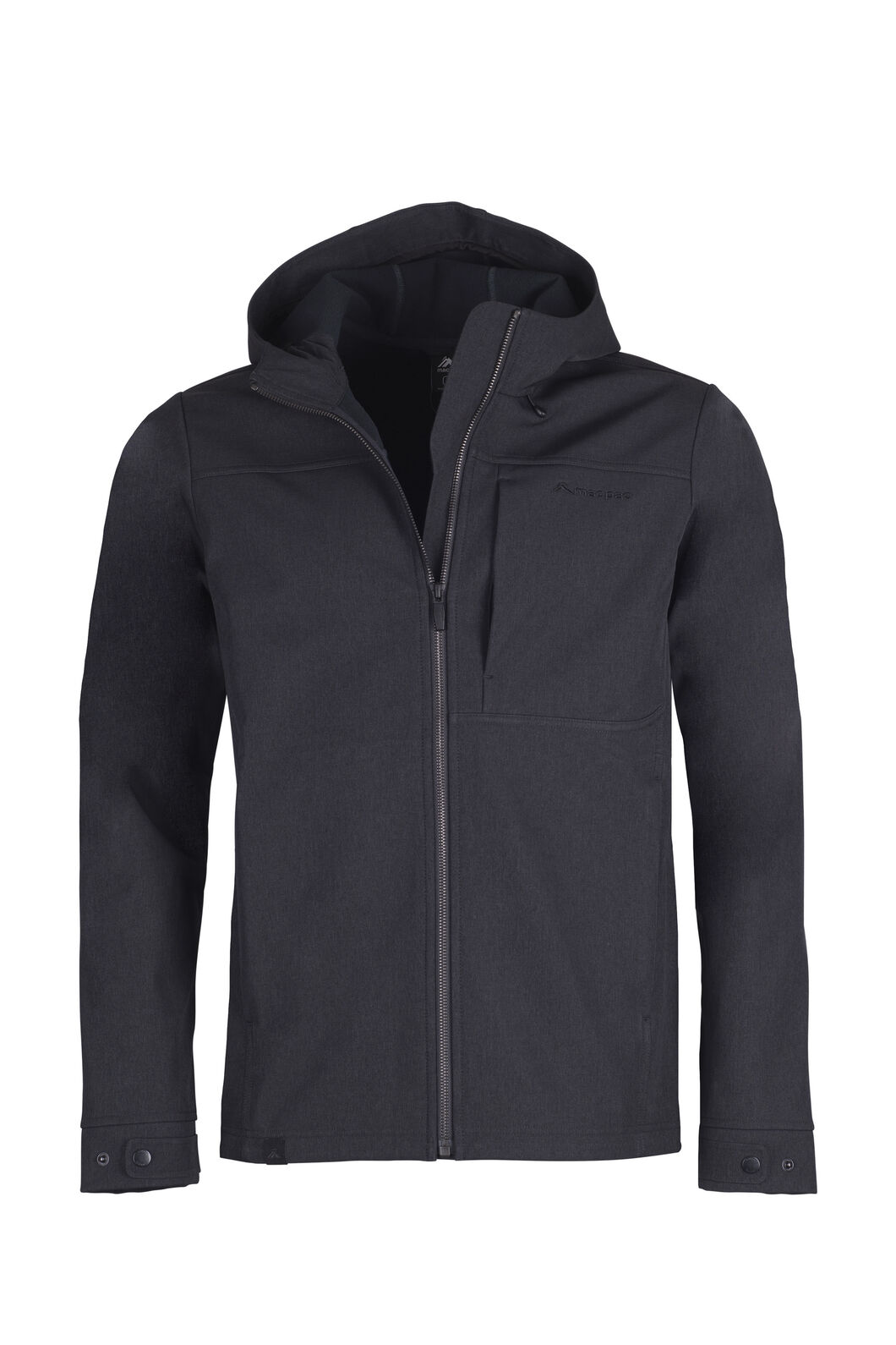 Macpac Chord Hooded Softshell Jacket - Men's, Black, hi-res