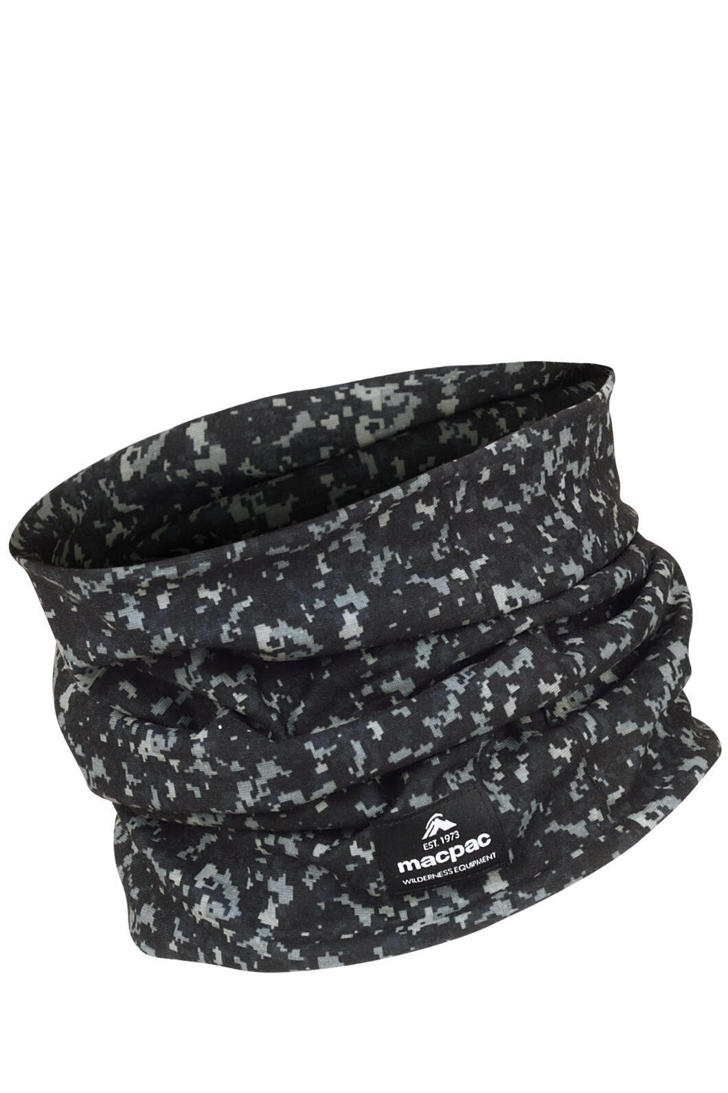Macpac Light Neck Gaiter, Black Digi Print, hi-res