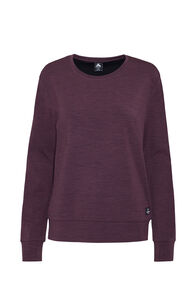 Macpac Merino 280 Long Sleeve Crew — Women's, Vineyard Wine, hi-res