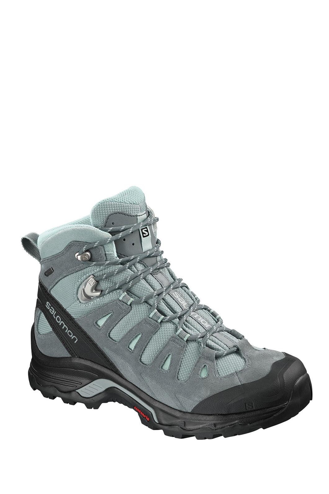 Salomon Quest Prime GTX Mid Boots — Women's, LEAD/STORMY/WEATHER/EGG BLUE, hi-res