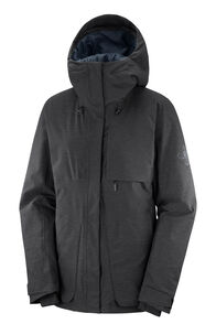 Salomon Proof Light Women's Insulated Ski Jacket, Black/Heather, hi-res