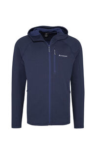 Macpac Ion Polartec® Fleece Hooded Jacket — Men's, Black Iris/Blueprint, hi-res