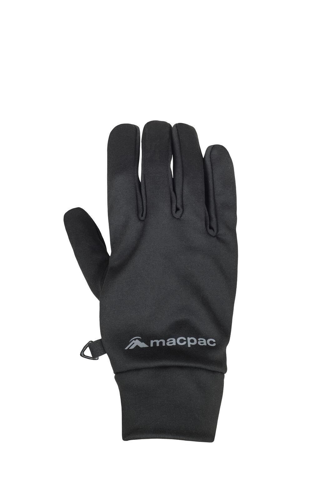 Macpac Stretch Gloves V2, Black, hi-res