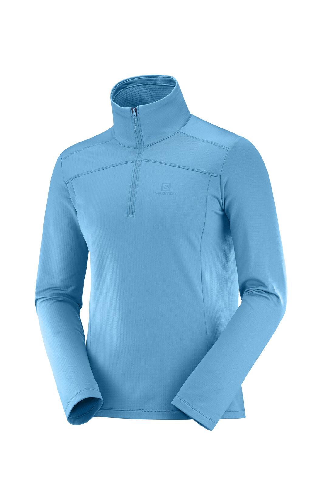 Salomon Discovery LT HZ Fleece Pullover — Men's, Fjord Blue, hi-res