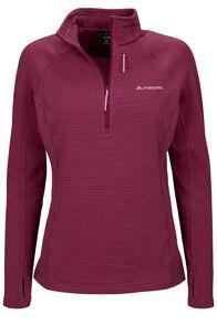 Macpac Women's Ion Polartec® Fleece Half Zip Pullover, Amaranth, hi-res