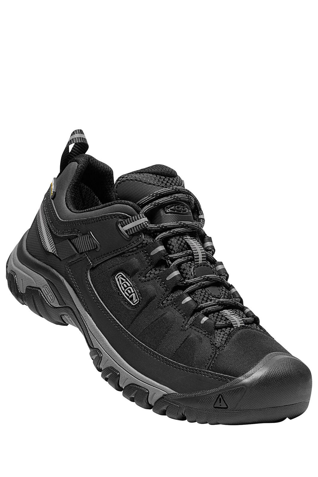 KEEN Men's Targhee EXP WP Hiking Shoes, Black/Steel Grey, hi-res
