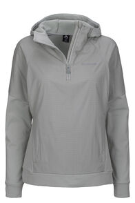 Macpac Saros Polartec® Alpha® Hooded Pullover — Women's, Aqua Gray, hi-res