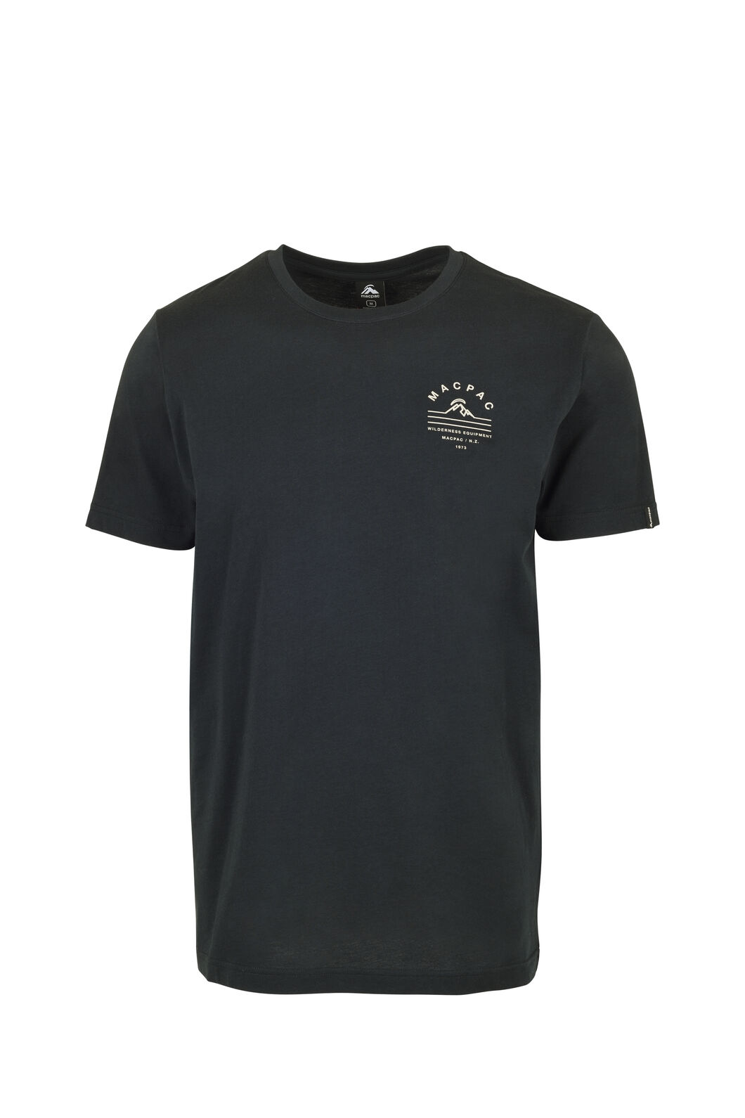 Macpac Alps Organic Tee — Men's, Black, hi-res