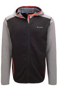 Macpac Men's Arc Fleece Hooded Jacket, Charcoal, hi-res