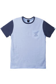 Pocket Organic Cotton Tee - Men's, Baby Blue/Black Iris, hi-res