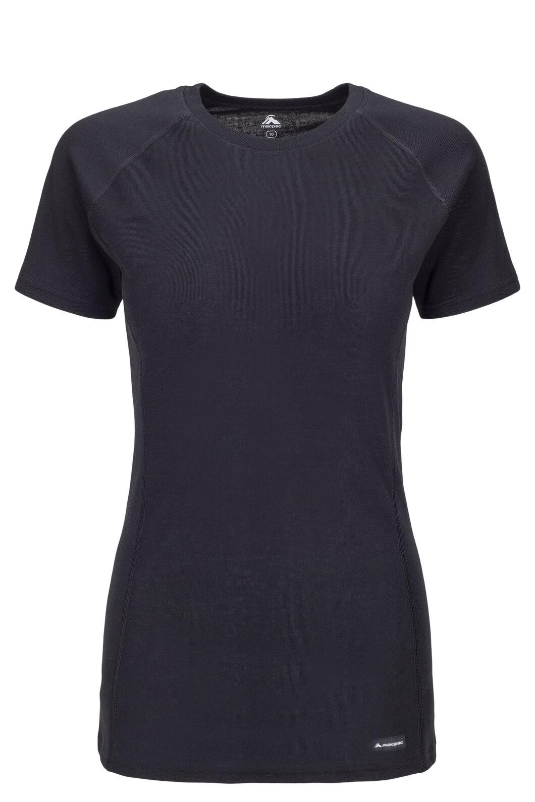 Macpac Geothermal Short Sleeve Tee — Women's, Black, hi-res
