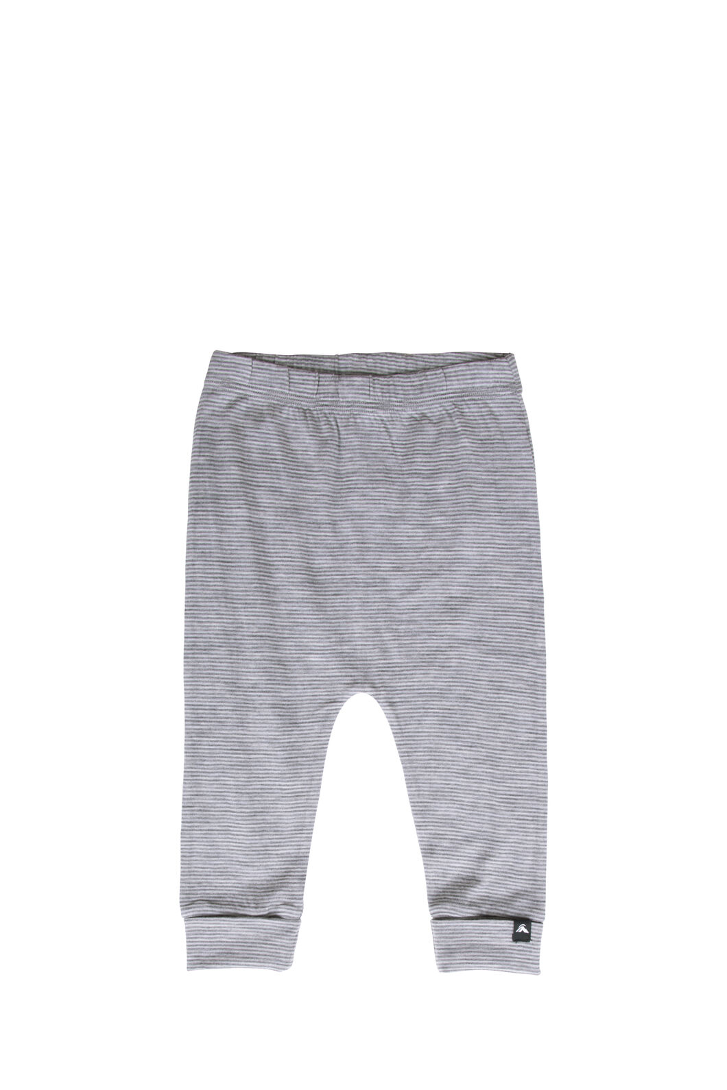 Macpac 150 Merino Long Johns — Baby, Light Grey Stripe, hi-res