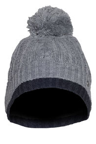 Macpac Rhythm Fleece Lined Beanie, Light Grey Marle/Charcoal, hi-res