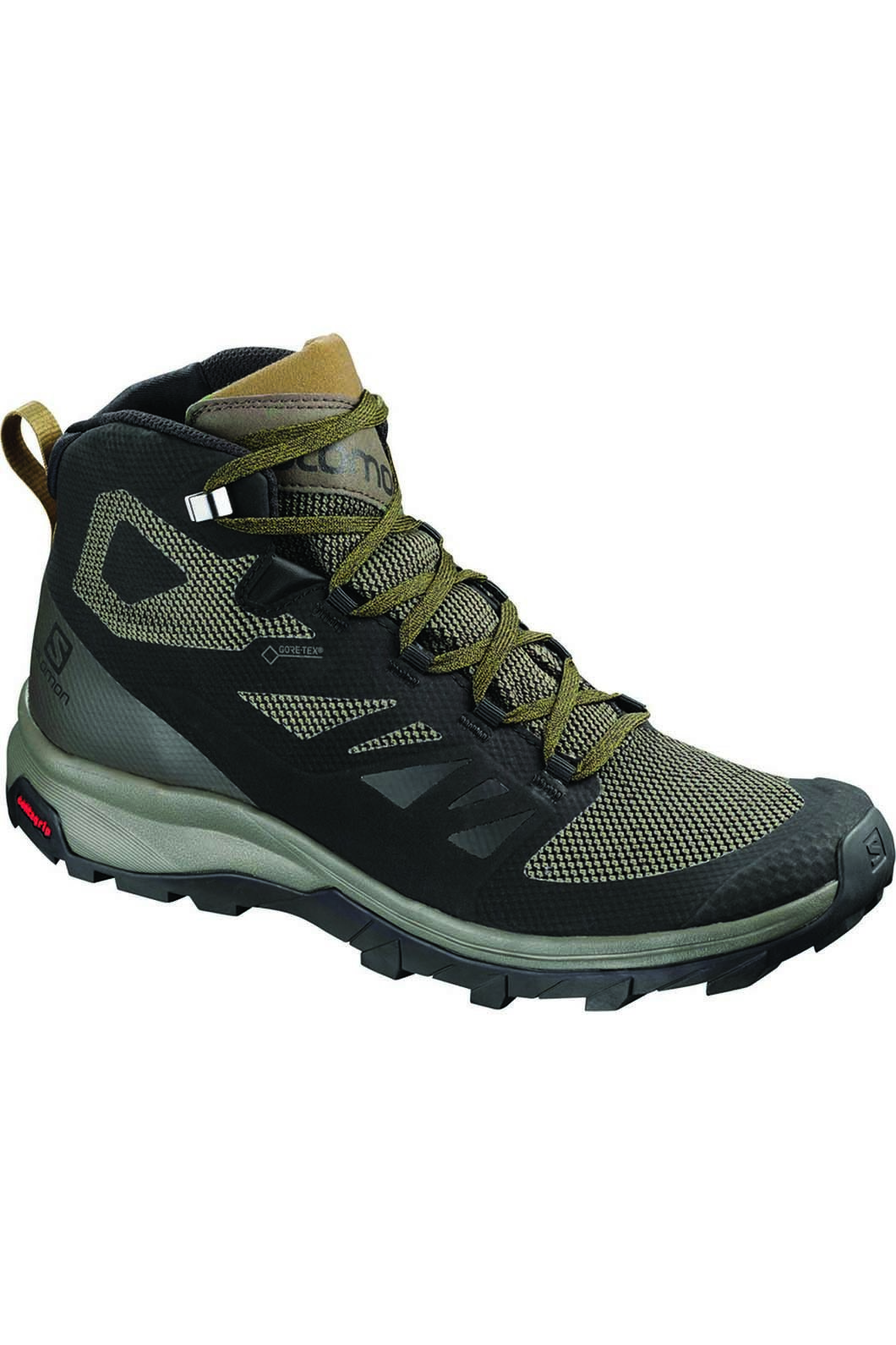 Salomon Men's OUTline Mid GTX Hiking Boot BelugaCapers, Blk/Beluga/Capers, hi-res