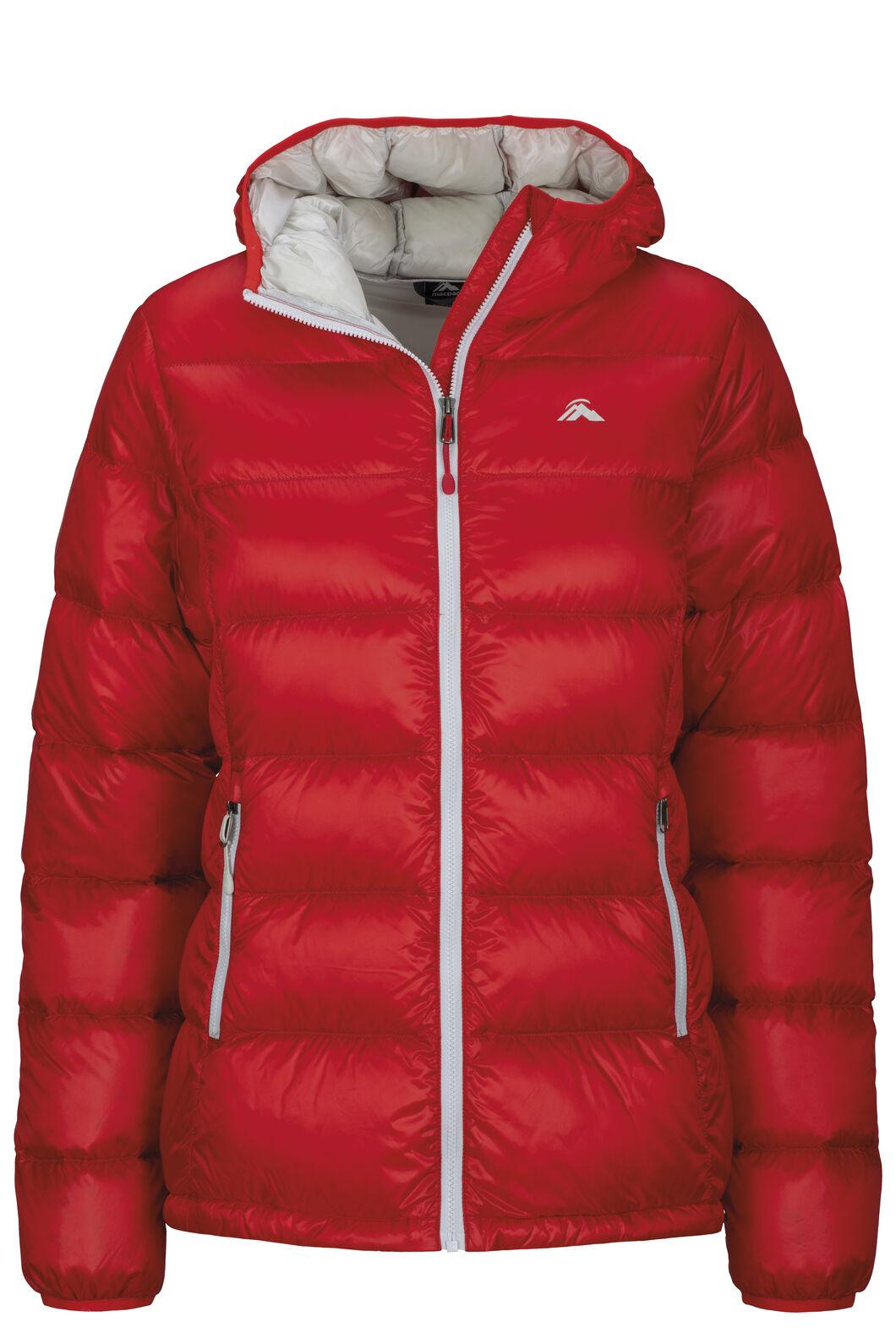 Macpac Women's Jupiter Hooded Down Jacket, Fiery Red, hi-res