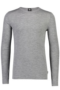 Macpac 220 Merino Long Sleeve Top - Men's, Grey Marle, hi-res
