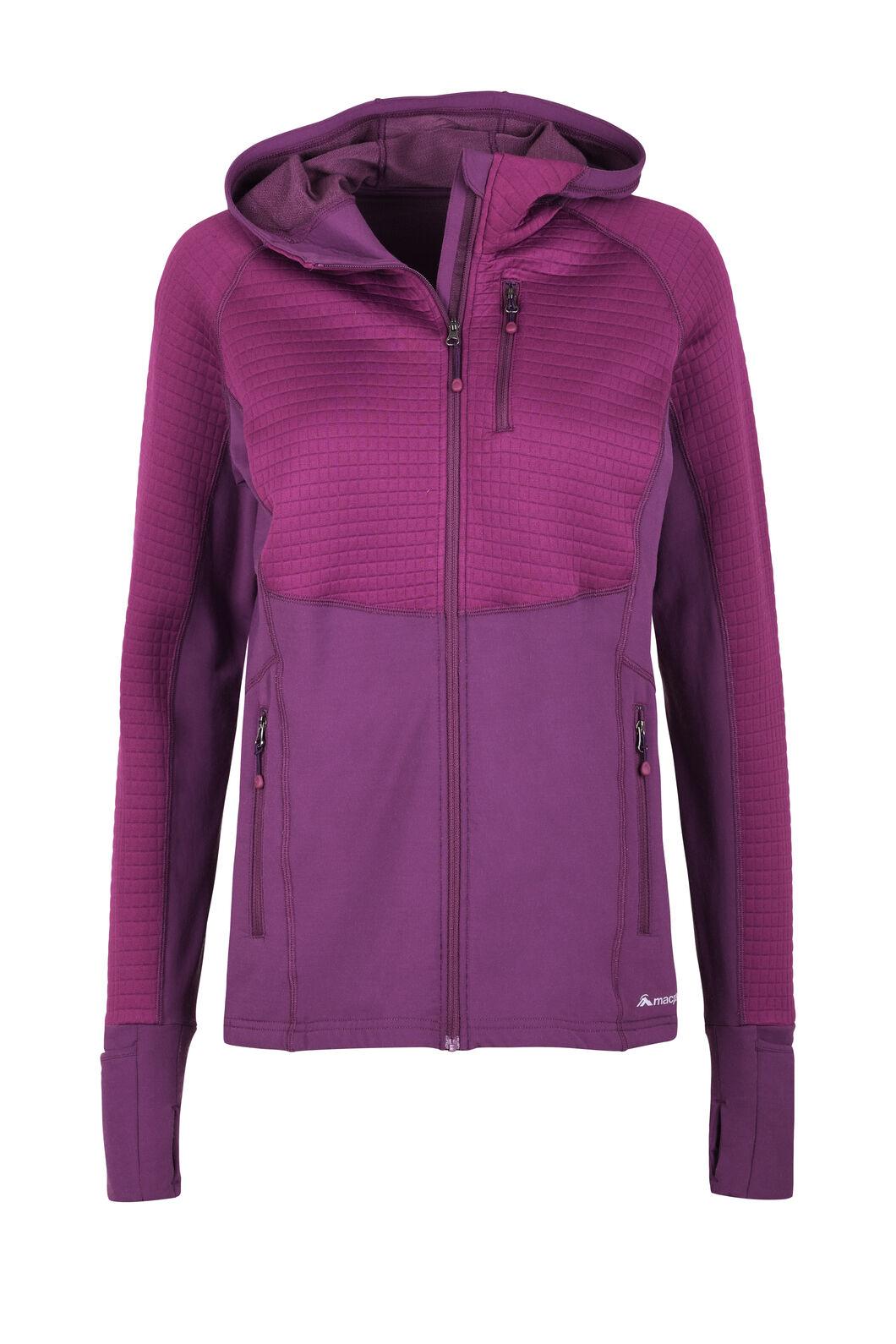 Macpac Delta Merino Blend Jacket — Women's, Magenta/Purple, hi-res