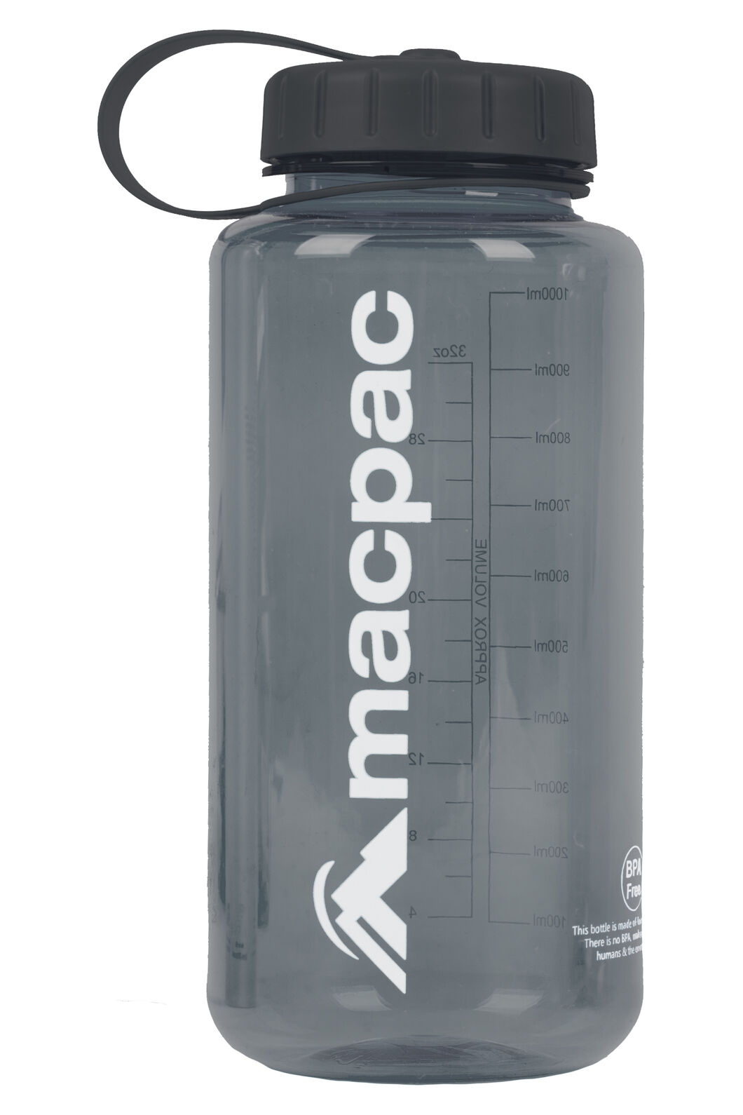Macpac Drink Bottle 1L, Grey, hi-res