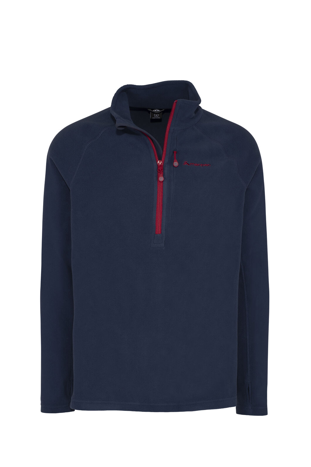 Macpac Tui Polartec® Micro Fleece® Pullover — Men's, Black Iris/Rio Red, hi-res