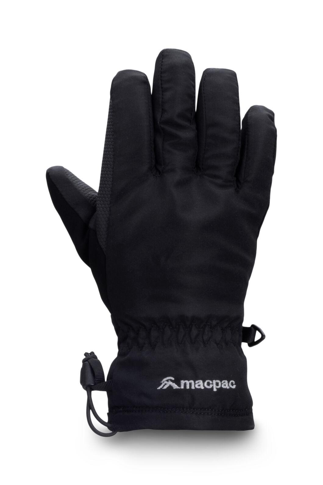 Macpac Kids' Spree Reflex™ Ski Gloves, Black, hi-res