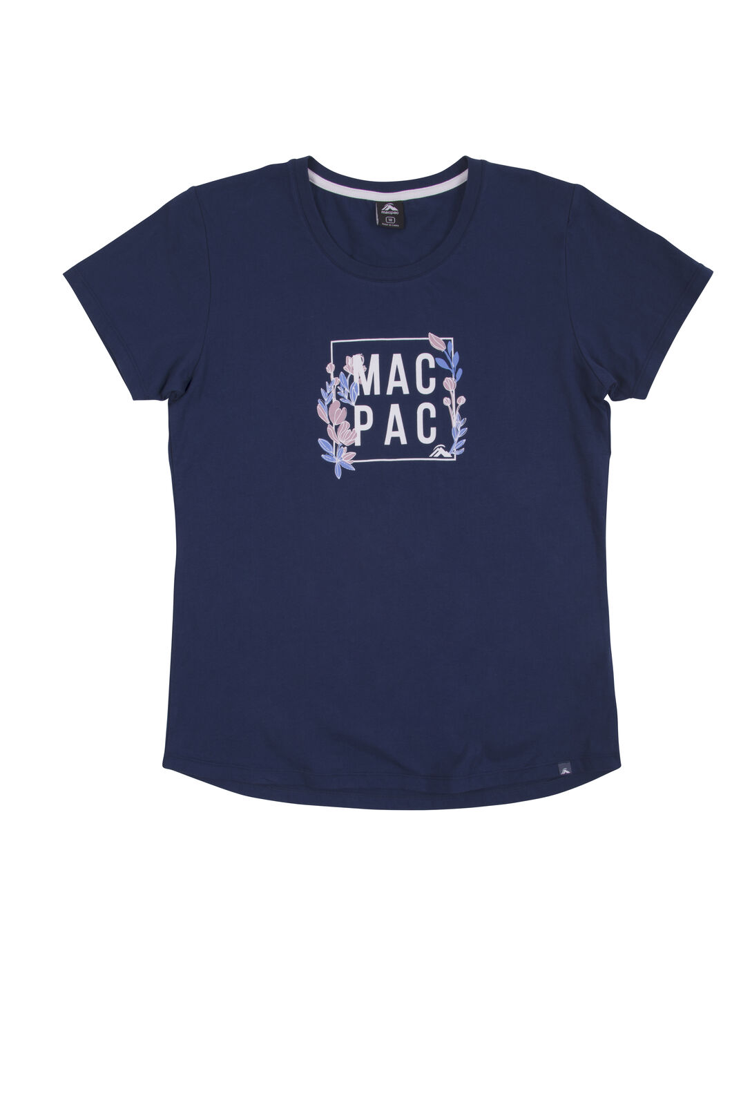 Macpac Cubed Organic Cotton Tee - Women's, Medieval Blue, hi-res