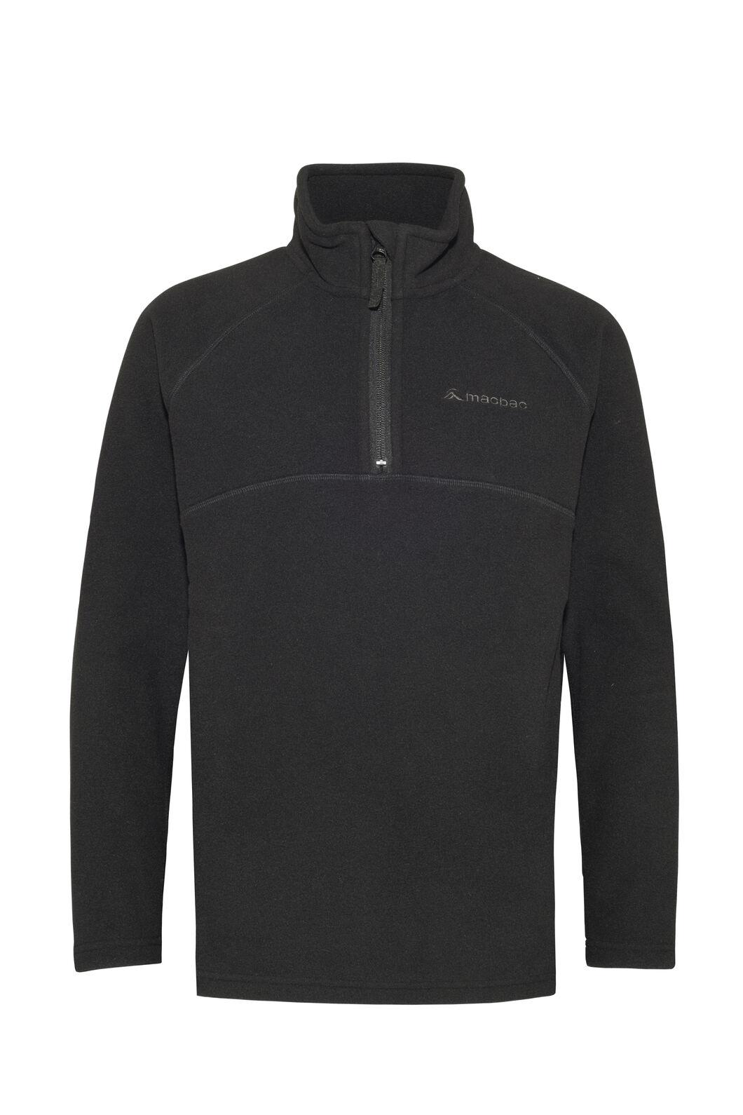 Macpac Tui Polartec® Fleece Pullover — Kids', Black, hi-res