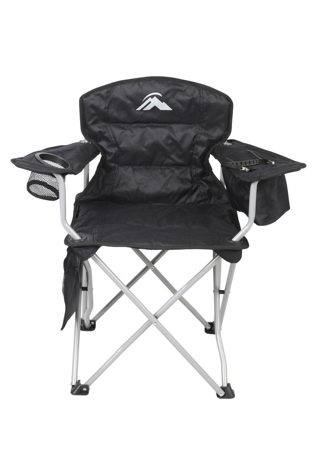 Macpac Cooler Armchair — Kids', Black/Alloy, hi-res