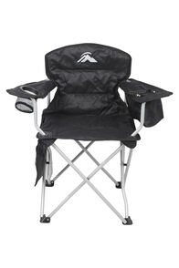 Macpac Cooler Armchair — Kids', Black/Alloy, hi-res