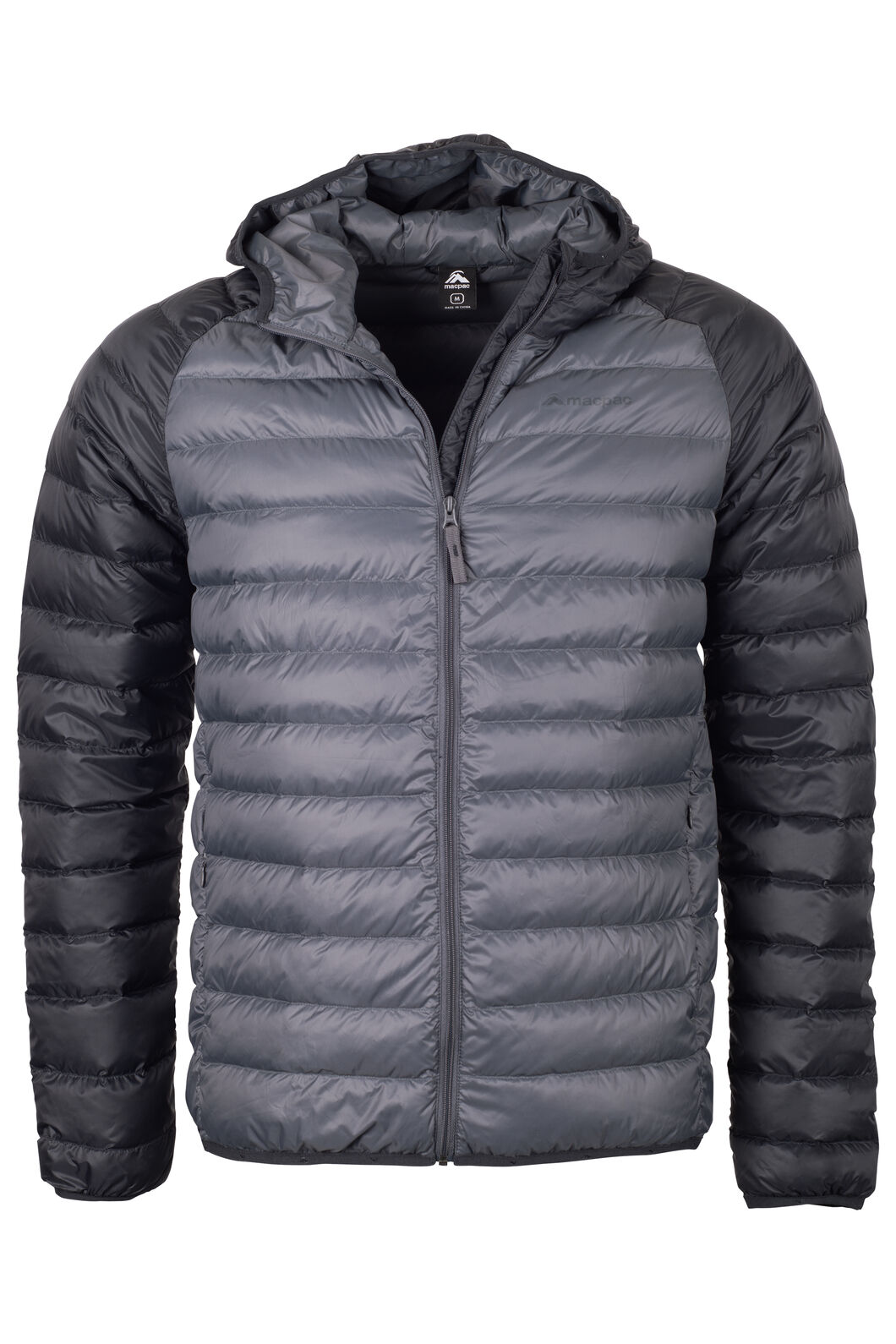 Macpac Uber Hooded Down Jacket - Men's, Asphalt, hi-res