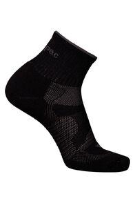 Macpac Merino Quarter Socks, Black/Black, hi-res