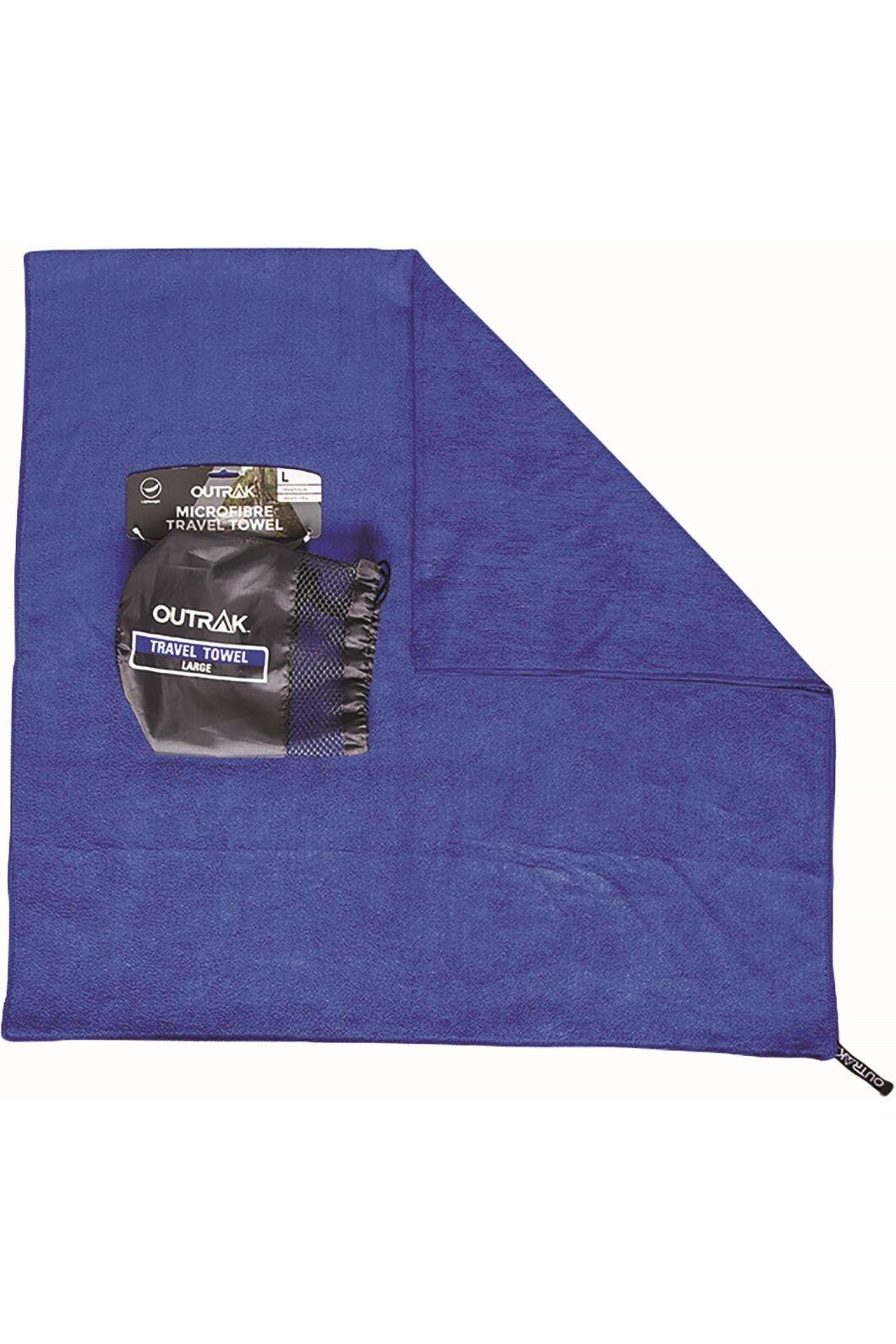 Outrak Microfibre Towel Largearge, Navy, hi-res