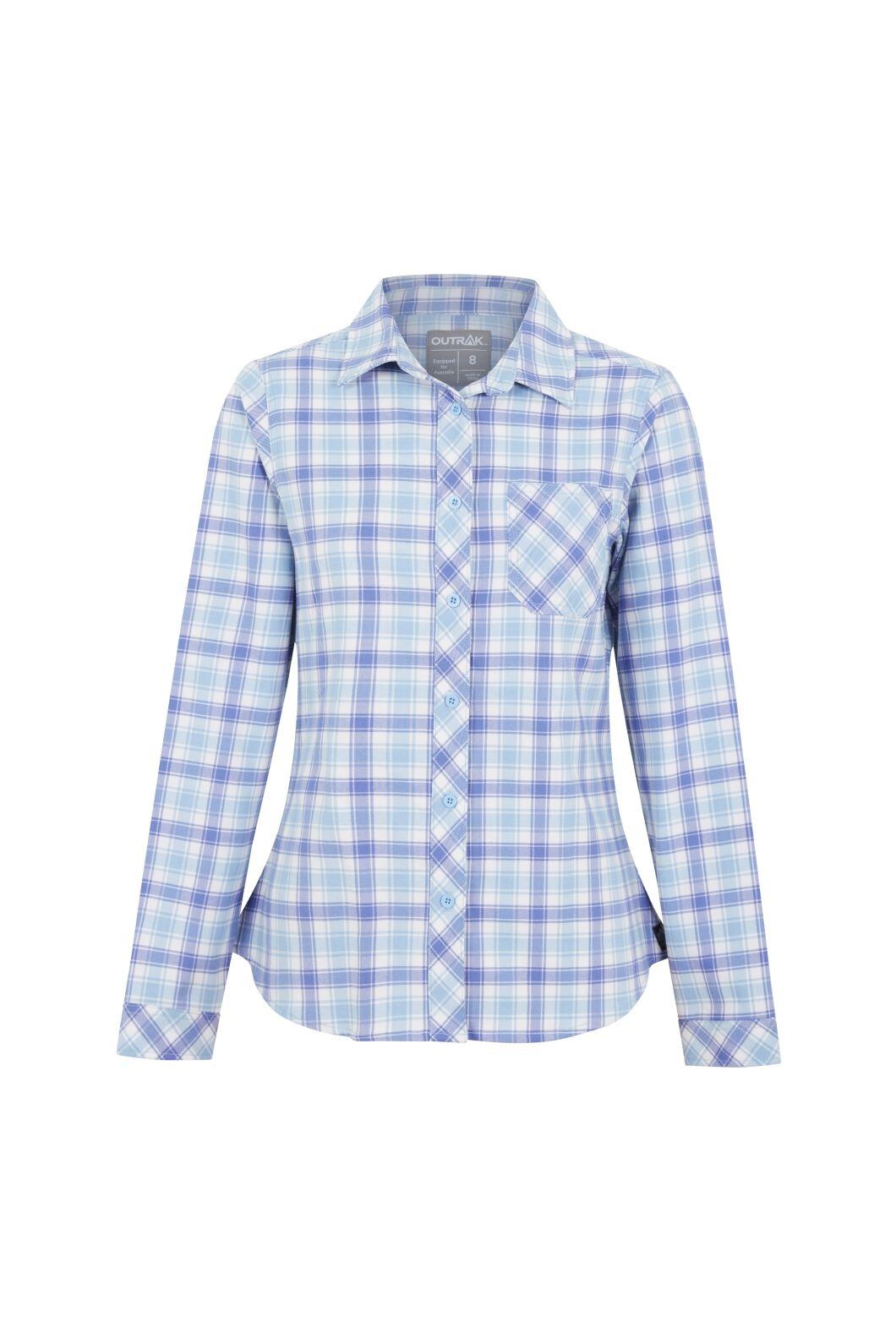 Outrak Women's Alpine Check Long Sleeve Shirt  Check, Blue Check, hi-res