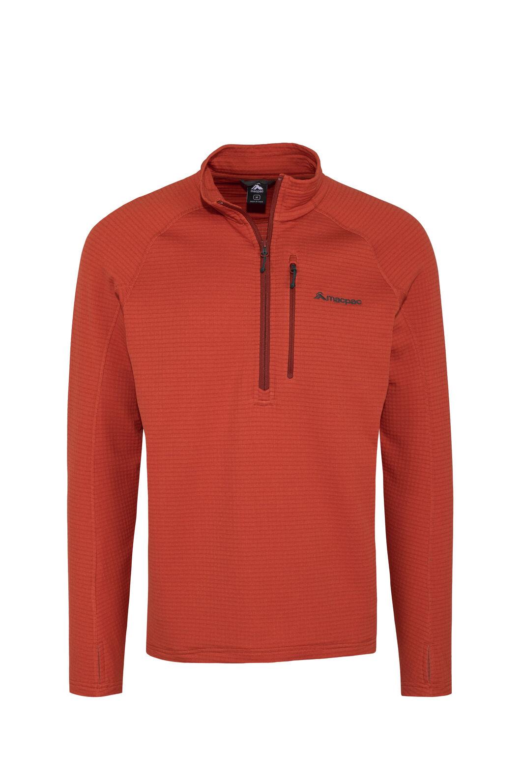 Macpac Ion Polartec® Fleece Half Zip Pullover — Men's, Rooibos Tea, hi-res