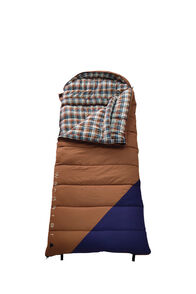 Wanderer Grand Yarra Cotton Hooded Sleeping Bag, Tan/Navy, hi-res