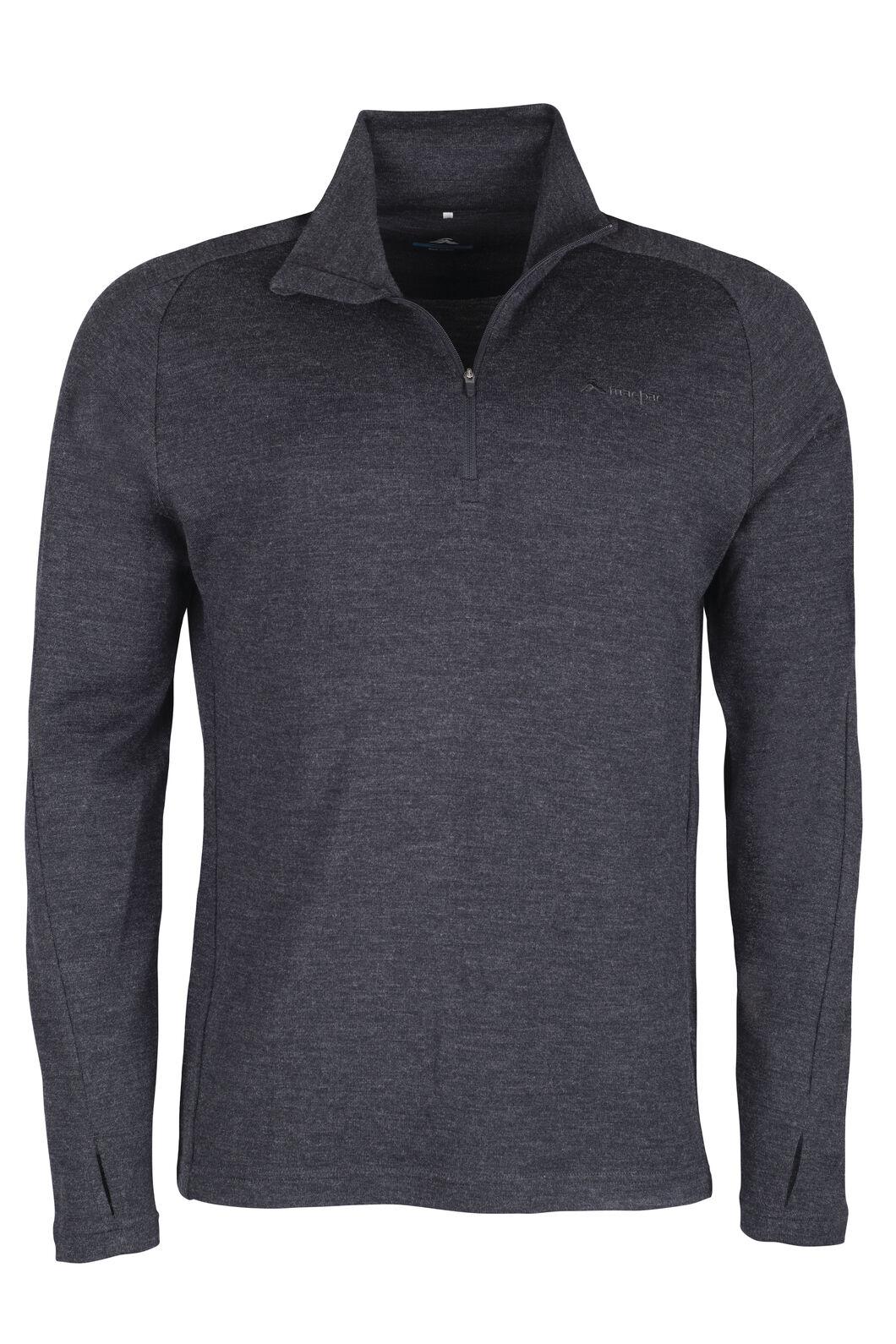 Macpac Kauri 280 Merino Pullover - Men's, Charcoal Marle, hi-res