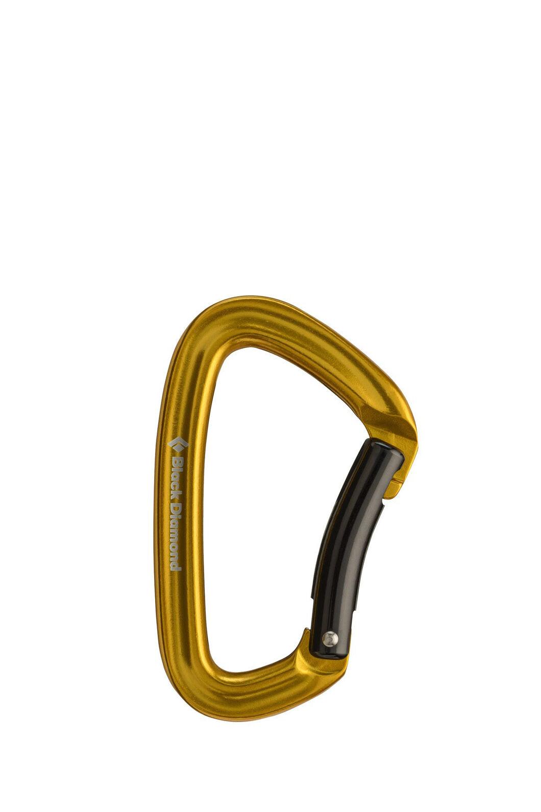 Black Diamond Positron Bent Gate Carabiner, Yellow, hi-res