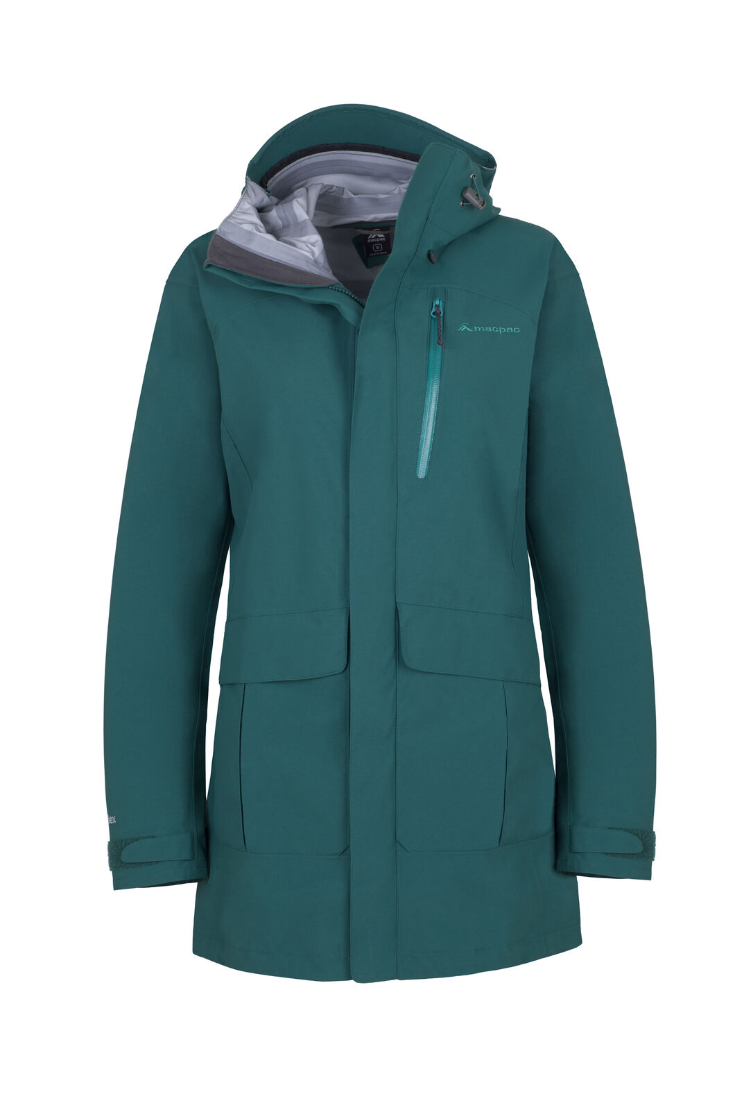 Macpac Copland Long Rain Jacket - Women's, Storm, hi-res