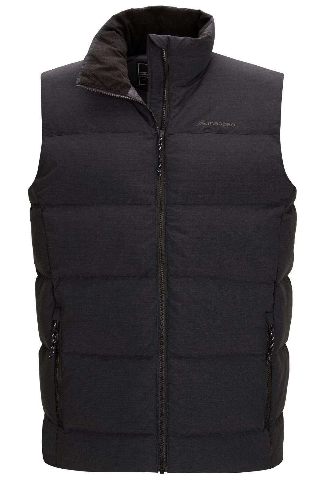 Macpac Accord Down Vest — Men's, Black, hi-res