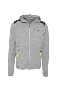 Macpac Strata 280 Merino Hooded Jacket — Men's, Grey Marle, hi-res