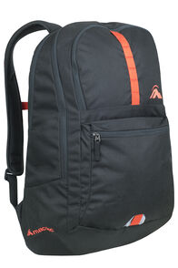 Macpac Campus 24L Day Pack, Black/Poinciana, hi-res
