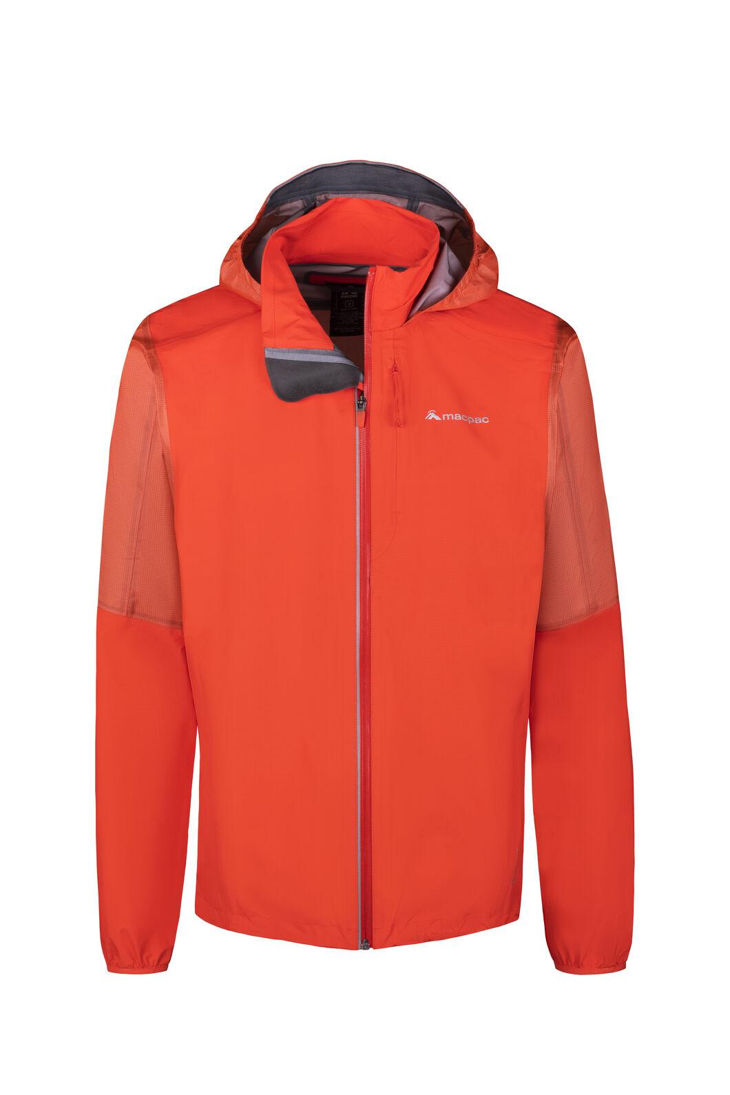 Macpac Transition Pertex® Rain Jacket - Men's, Mandarin Red, hi-res