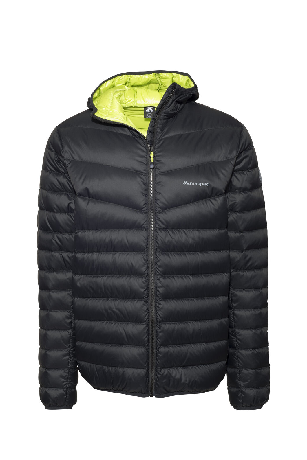 Macpac Mercury Down Jacket - Men's, Black/Tender Shoots, hi-res