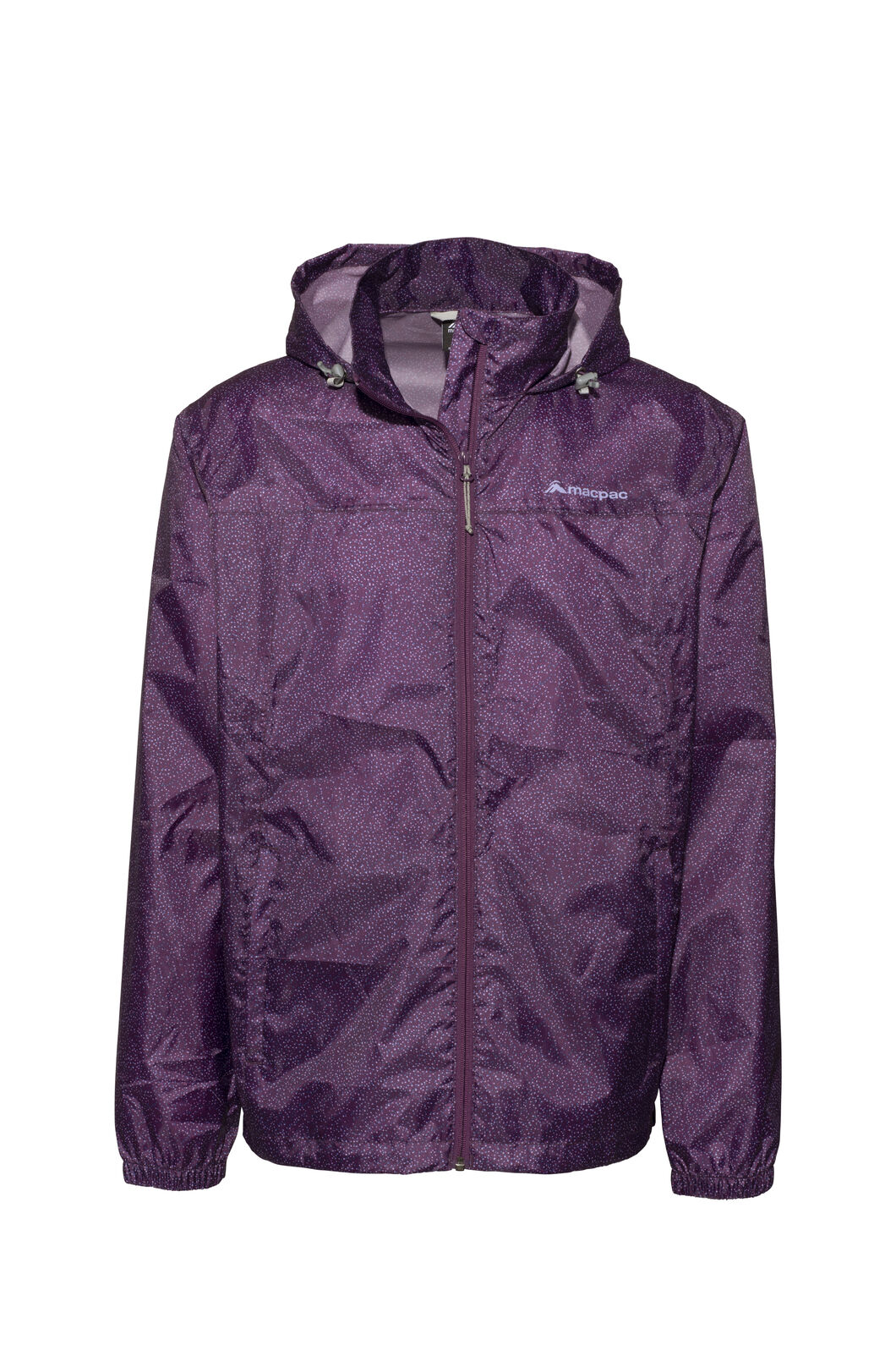 Macpac Pack-It-Jacket — Unisex, Wineberry Speckle Print, hi-res