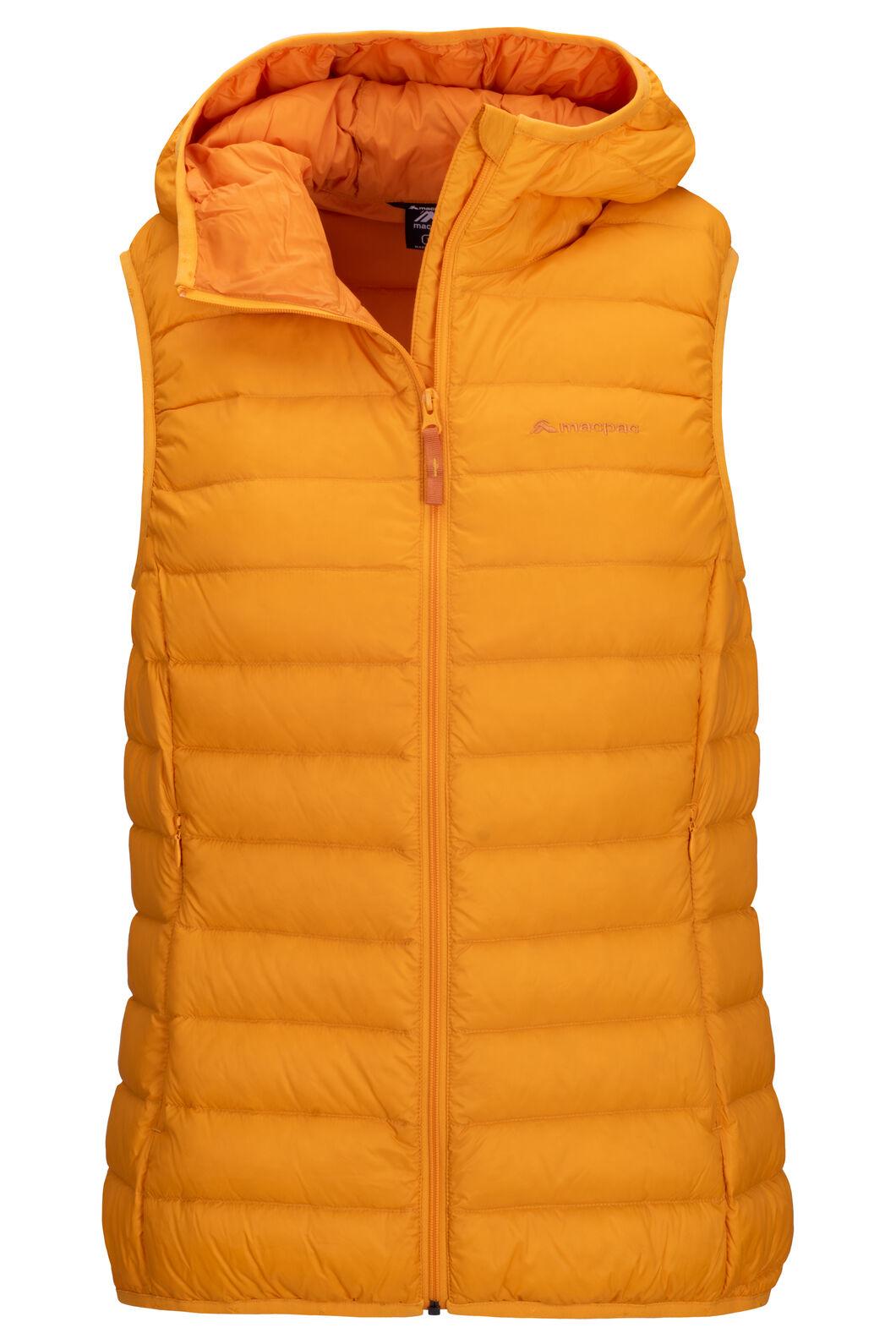 Macpac Uber Light Hooded Down Vest — Women's, Cadmium Yellow, hi-res