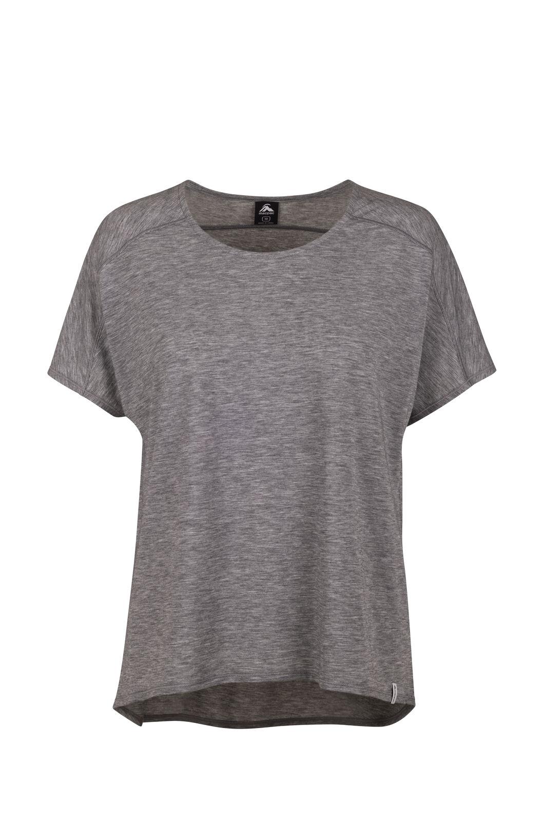 Macpac Eva Short Sleeve Tee — Women's, Anthracite, hi-res