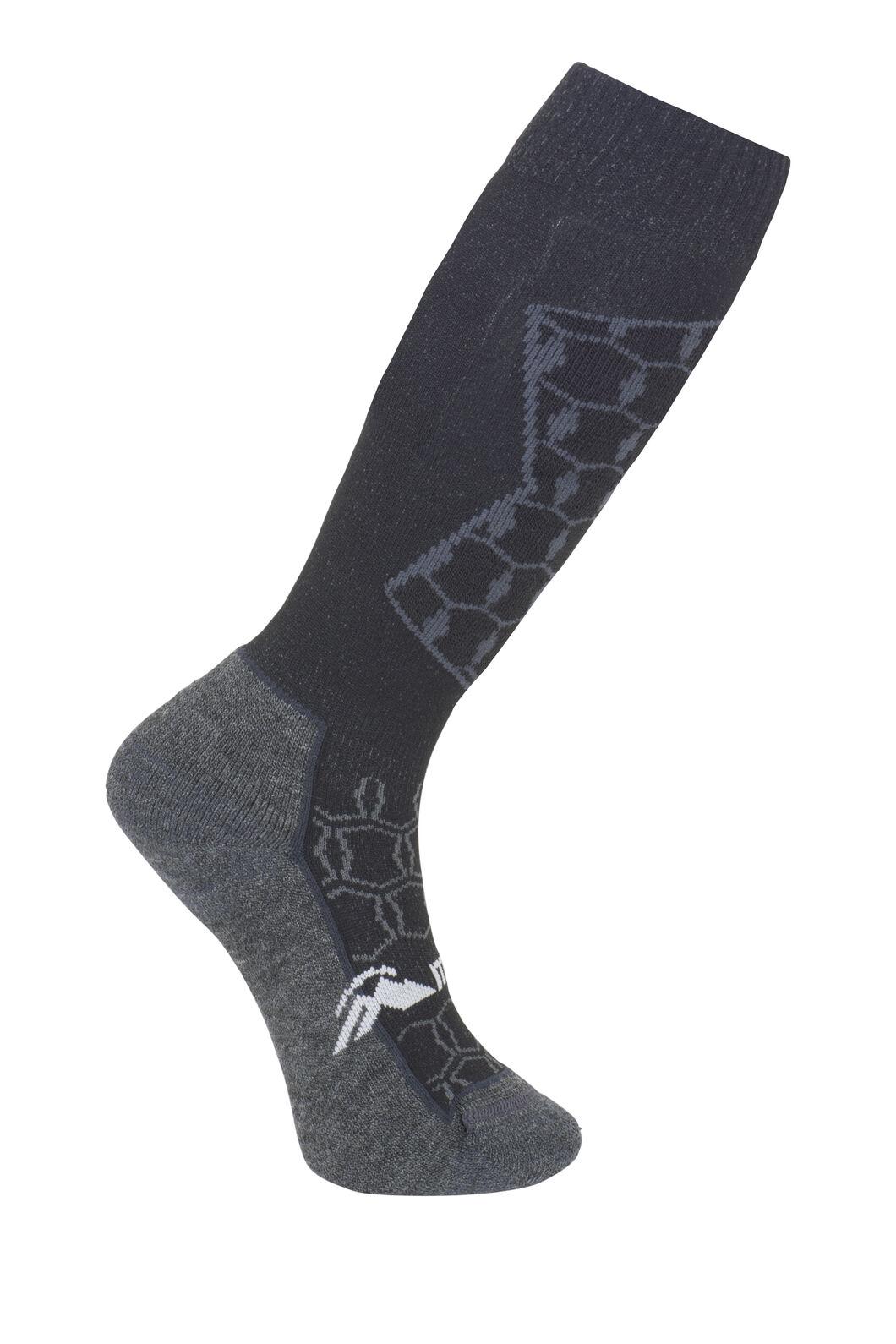 Macpac Tech Ski Sock - Kids', Black/Charcoal, hi-res