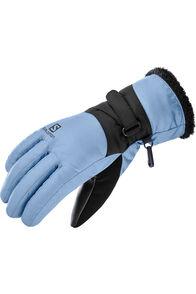 Salomon Force Dry Women's Ski Gloves, Copen Blue/Night Sky, hi-res
