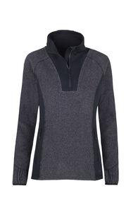Macpac Club Field Fleece - Women's, Black/Asphalt, hi-res