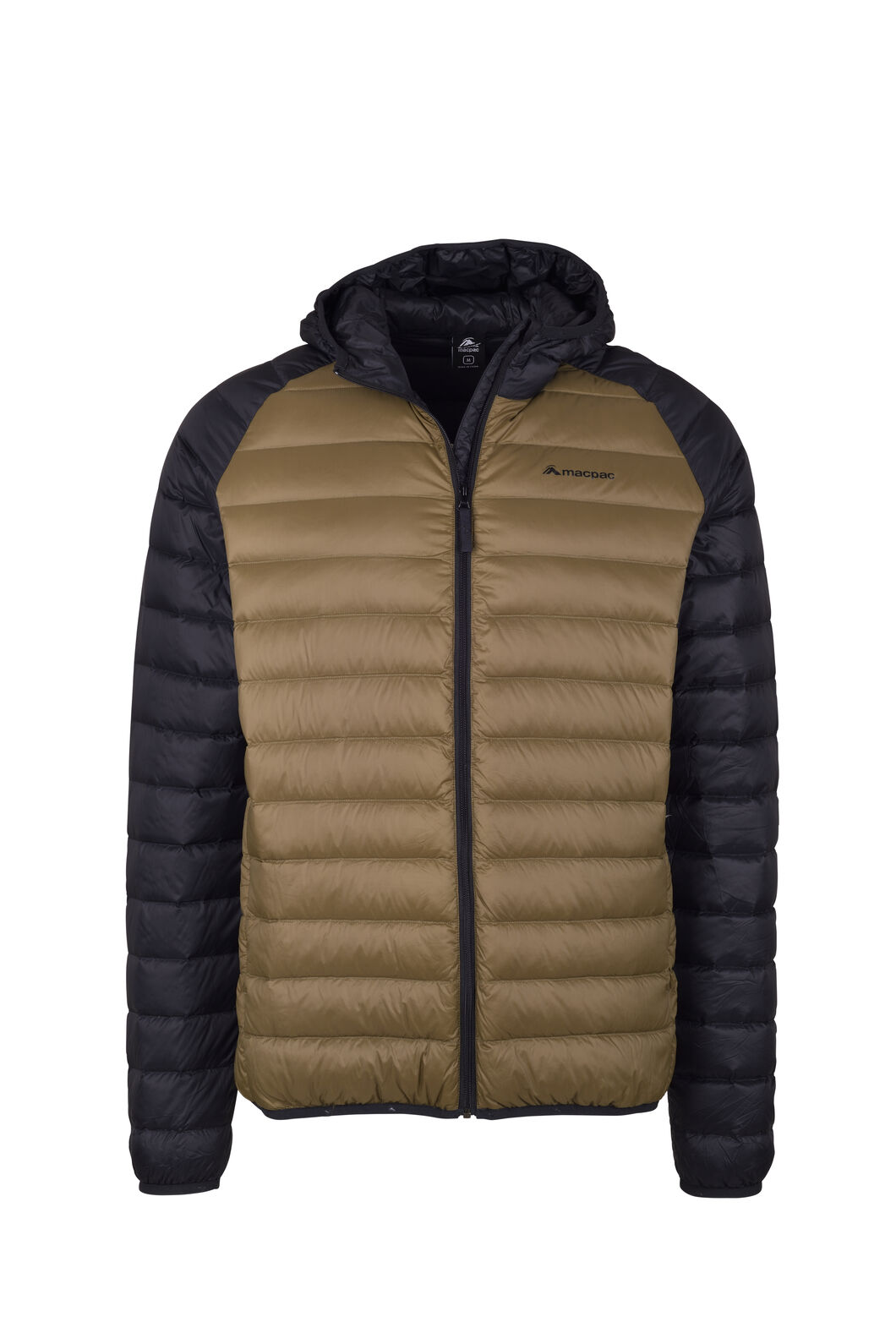 Macpac Uber Hooded Down Jacket - Men's, Beech/Black, hi-res